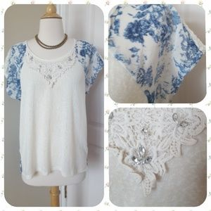 Anthropologie Flora Imma Blouse by Miss Me